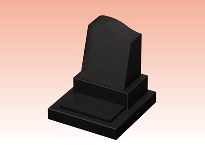 左右非対称デザインのキリスト教式のお墓