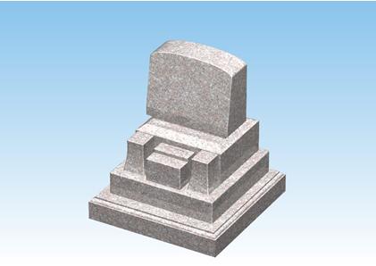 ピンク色の御影石のお墓