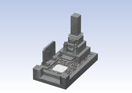 荘厳さのある石塔のお墓