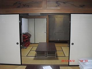 当苑2階和室改装のお知らせ
